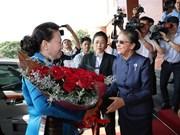 NA Chairwoman Nguyen Thi Kim Ngan visits Laos