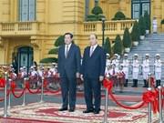 PM welcomes Cambodian counterpart Hun Sen