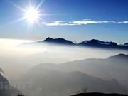 Hoang Lien Son peak at dawn