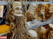 Unique bamboo root sculptures