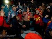 Fans support national football team