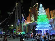 Ho Chi Minh City glowing with Christmas atmosphere