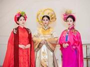 Miss Vietnam 2018 top 3 shine in Ao Dai