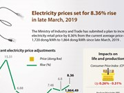 Electricity prices set for 8.36% rise
