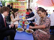 Crown Princess of Sweden treated to 'Bun bo' in Hanoi
