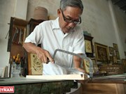 Artist shows Vietnamese spirit in marquetry pictures