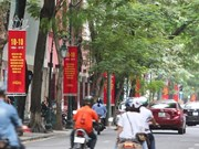 Hanoi decorated for Liberation Day celebration