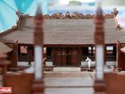 Smallest wooden miniature of communal house in Vietnam