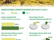 Agricultural sector grows 2.55 percent during 2013-2017