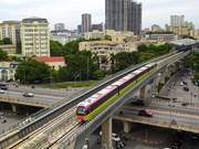 Hanoi's second metro line elevated tracks on dynamic test