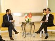 President meets leaders of Italian parties