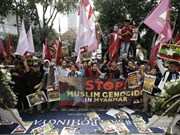 Indonesia calls to stop violence against Rohingya Muslims