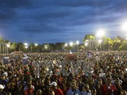 Meeting in memory of Fidel Castro held in Santiago de Cuba