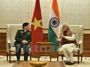 Defence Minister visits India, meets Modi