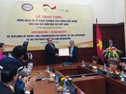 SBV honours GIZ Vietnam leaders and managers