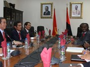 Party economic official visits Angola