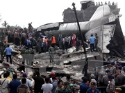 Indonesia: military transport plane crashed, 13 dead
