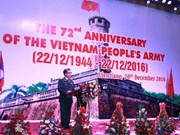 Establishment of Vietnam People's Army celebrated in Laos