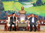 Lao leader lauds cooperation in popularisation work with Vietnam