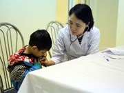 Children receive free heart checkups