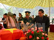 Dien Bien receives remains of voluntary soldiers from Laos