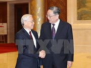 Chinese senior officials hail visit by Vietnam's Party leader
