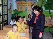 Japan PM's spouse visits children with disabilities in Vietnam