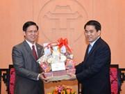 Hanoi leader meets representatives from Evangelical Church