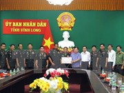 Cambodian Royal Guards extend New Year wishes to Vinh Long