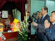 President pays tribute to Uncle Ho