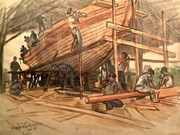 National museum exhibits historic sketches