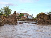 Unusually strong tides erode coastal land