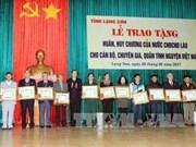 Lang Son: Volunteer experts honoured with Lao orders, medals