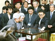 Japanese Emperor, Empress visit biology museum in Hanoi