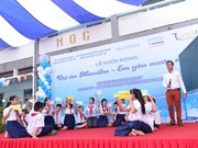 Japanese water education programme launched in Ben Tre
