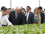 Israeli president visits hi-tech VinEco Tam Dao project