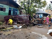 Five killed, hundreds displaced in flash floods in Indonesia