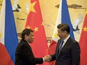 China, Philippines Presidents talk on phone