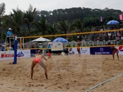 Asian women's beach volleyball tourney kicks off in Tuan Chau