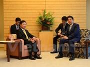 Deputy PM meets Japanese leaders