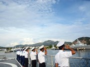 Vietnamese naval ship attends activities in Singapore