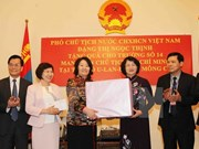 Vice President busy in Mongolia