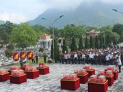 Thanh Hoa reburies martyr remains recovered from Laos
