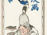 Japanese manga art on display