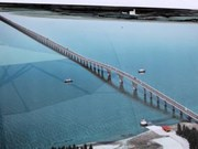 Southeast Asia's longest cross-sea bridge close to completion