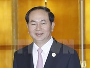 President meets foreign leaders in China