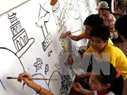 Children to make longest painting street in Vietnam