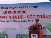 Work starts on Nha Be garment factory in Soc Trang