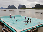 Floating soccer pitch in Thailand named one of world's best views