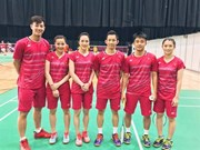 Vietnamese badminton team enjoys first win at Sudirman Cup